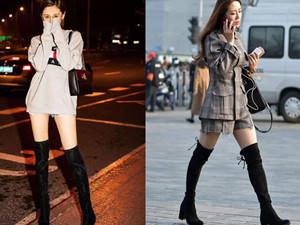 长筒靴搭配什么衣服 冬天美美的这样穿搭显高显气质