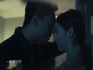 一树桃花开郭晓婷杨凯程吻戏照 戏中甜蜜外