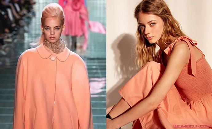 蜜瓜橙颜色衣服