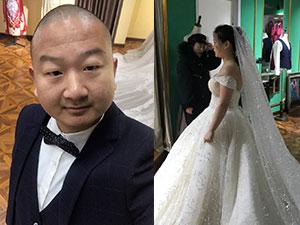 快手红人Giao哥结婚 妻子身穿婚纱颜值不低