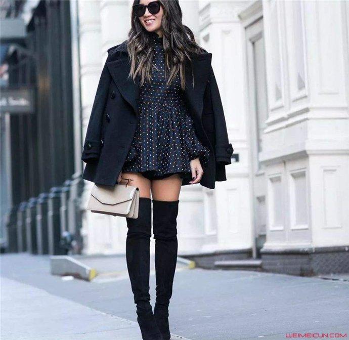 长筒靴搭配什么衣服显腿长