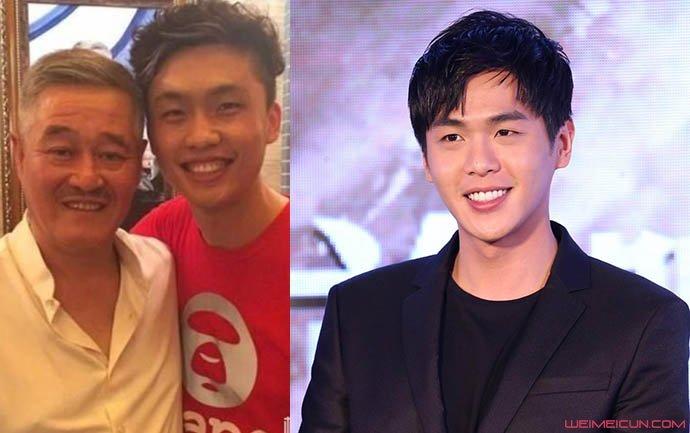 红孩和张若昀对比照