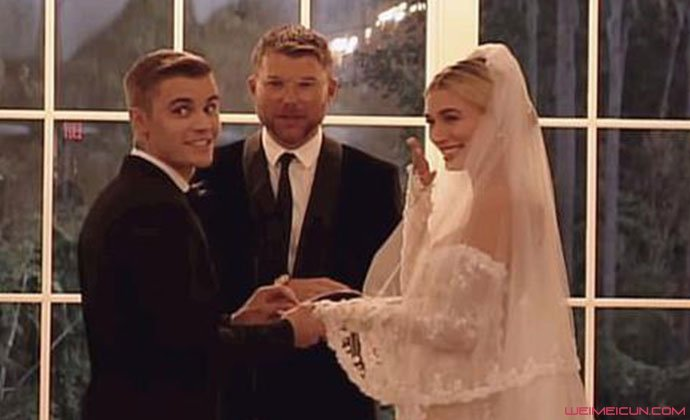 比伯海莉婚礼视频画面