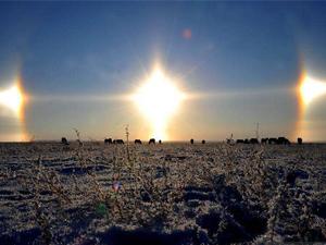 黑龙江虎林三个太阳啥情况 这种幻日奇观是怎么形成的揭破(原创)
