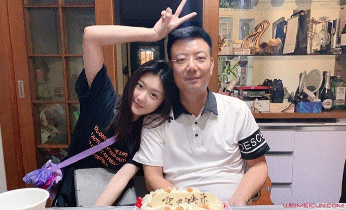 袁雨萱和爸爸合照