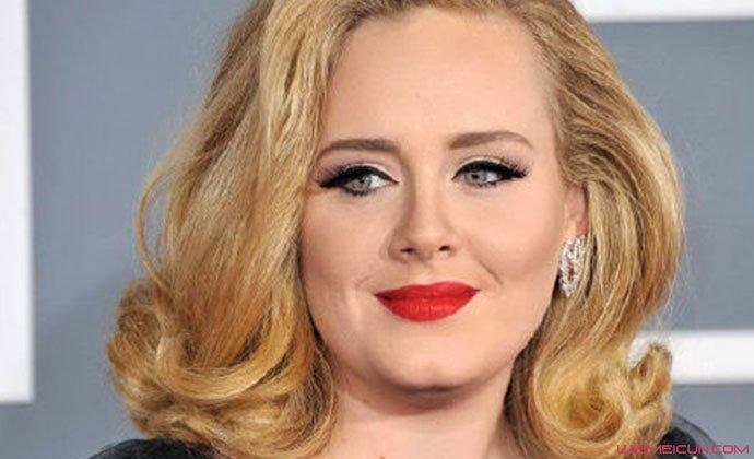Adele瘦身前