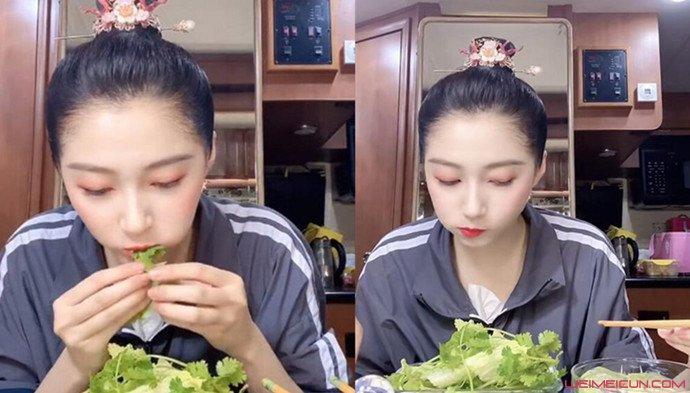 关晓彤同款生菜卷香菜