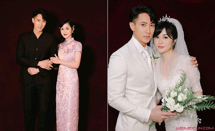 吴尊和林丽吟婚纱照
