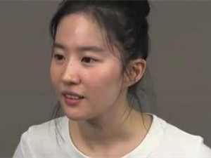 刘亦菲试镜花木兰视频 14小时无休顶着素颜