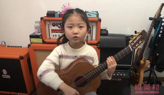 6岁南京女孩弹唱火到国外