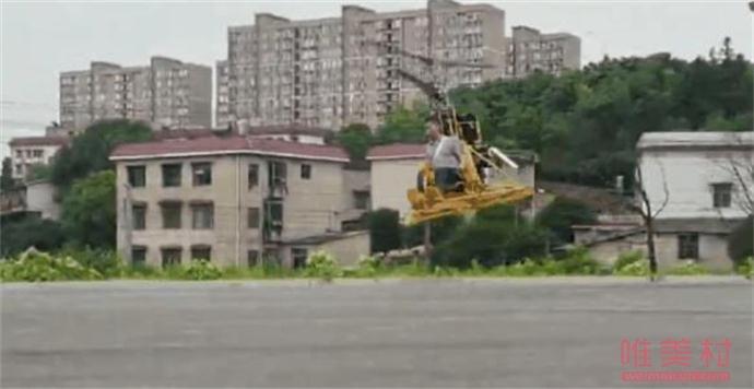 男子跨界自制直升机