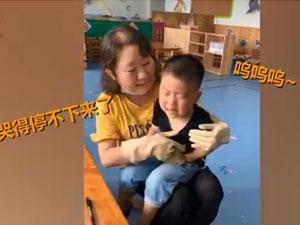 老师把妈妈画太胖男孩大哭 详情画面曝光太可爱了
