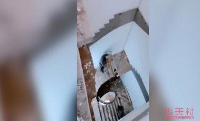 小伙出门上班发现楼梯没了