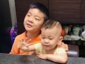 7岁哥哥和2岁弟弟吟诵将进酒 兄弟两人念诗