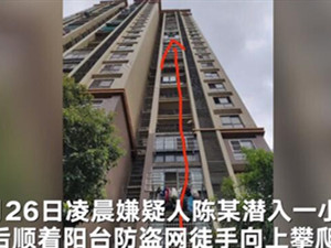 男子凌晨徒手爬15楼盗窃睡着2次 始末经过回顾使人发笑