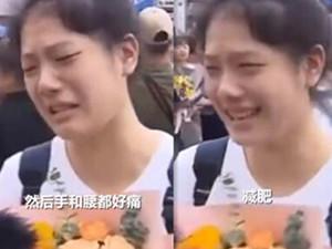 女孩高考完哭着说假期规划是减肥 并道出备考感受令人心疼