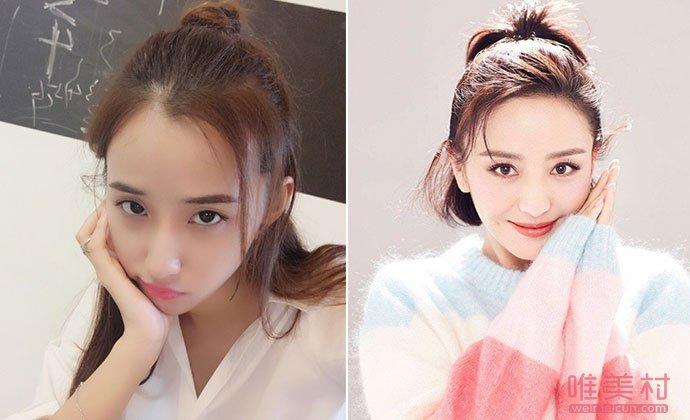 演员辛诗琪与佟丽娅对比