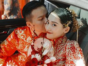 姚童个人资料 90后女演员姚童与老公结婚照曝光