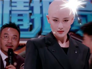 张馨予光头造型引热议 为了火星情报局拼了