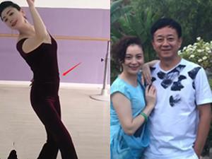 朱军51岁老婆穿紧身衣跳舞 身材好似少女