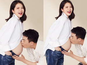 杜淳晒与妻子王灿的甜蜜孕照 满满的幸福感