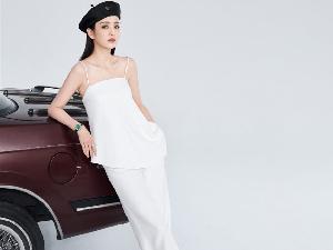 佟丽娅时尚大片曝光 吊带衫搭配贝雷帽透着