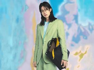 李栋旭长发造型大片曝光 薄荷绿短裤西装展